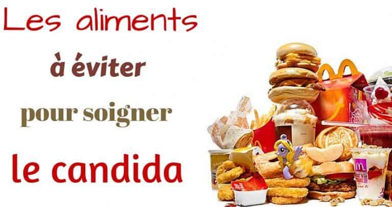 Les aliments à éviter dans un régime anti candidose
